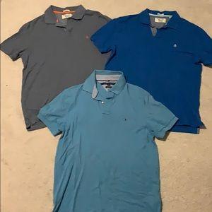 GUC lot of 3 men's cotton polo shirts
